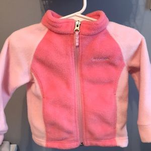 Pink fleece Columbia Jacket